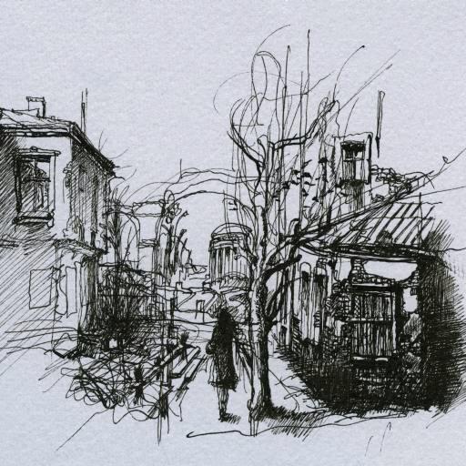 Pixwords l image avec dessin croquis arbre homme ville - Croquis arbre ...